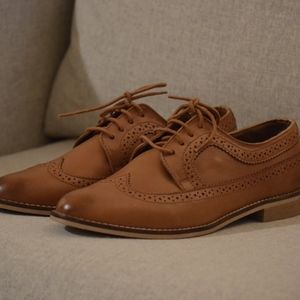 ASOS MAI Leather Brogues Oxfords Tan Size US 10